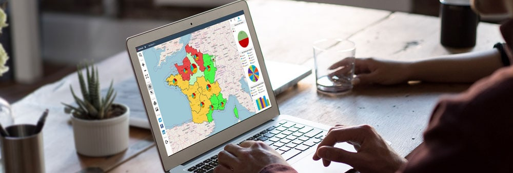visualiser ses indicateurs commerciaux sur une carte