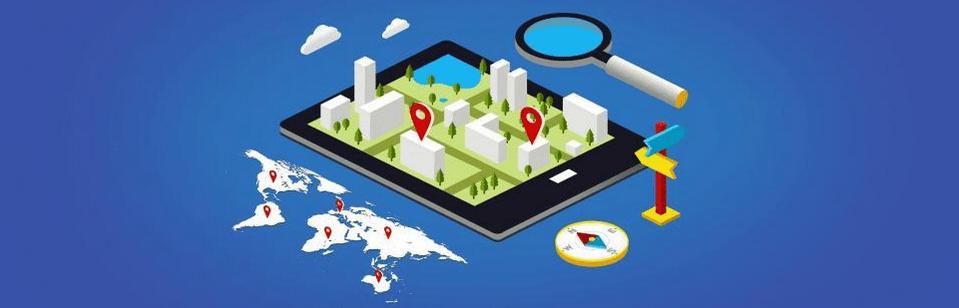 Indicateurs d'activité représentés géographiquement