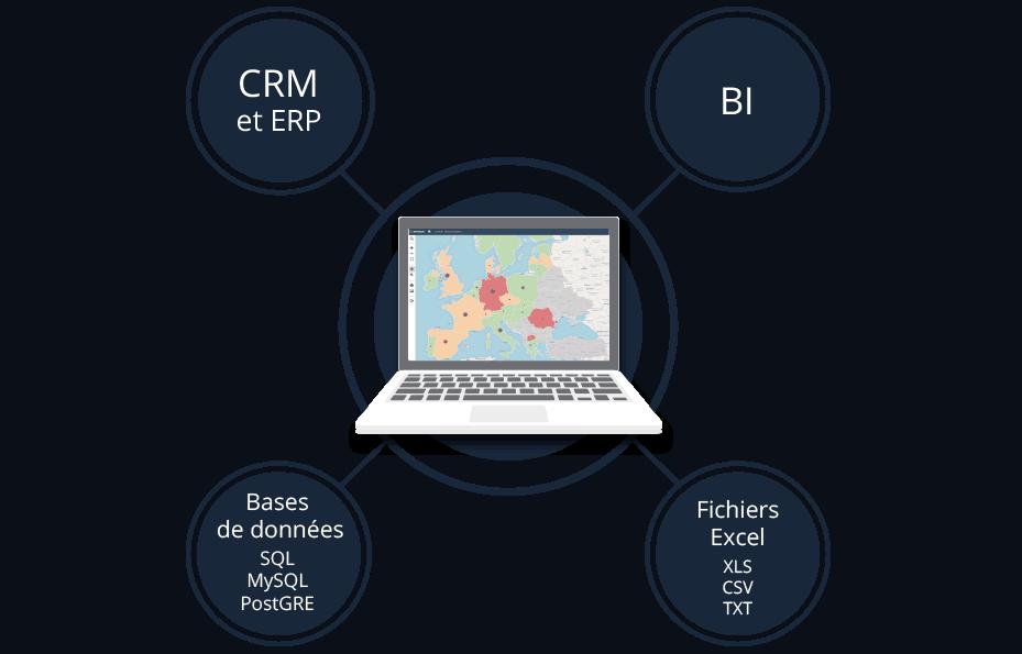 Des données stratégiques intégrées à un tableau de bord commercial.