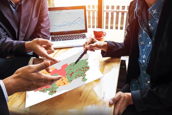 le management commercial explicite les objectifs avec la carte