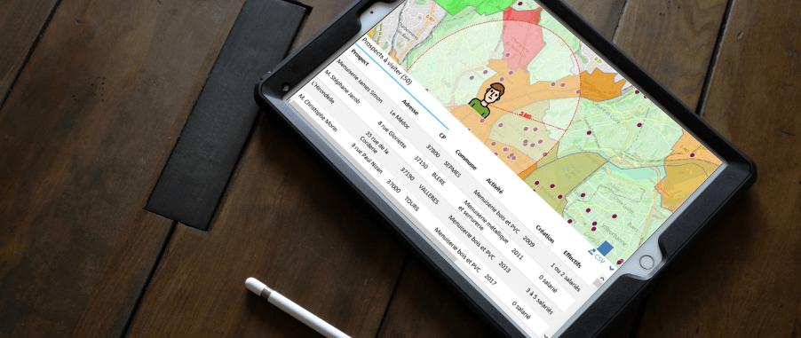 Des outils de prospection pensés pour votre force de vente terrain